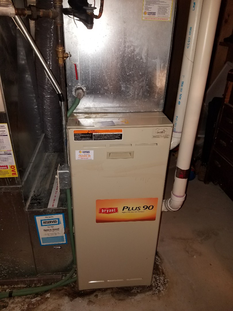 Rogers, MN - Replaced blower motor on Bryant furnace