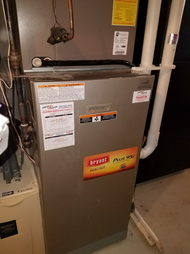 Rogers, MN - Bryant furnace not heating