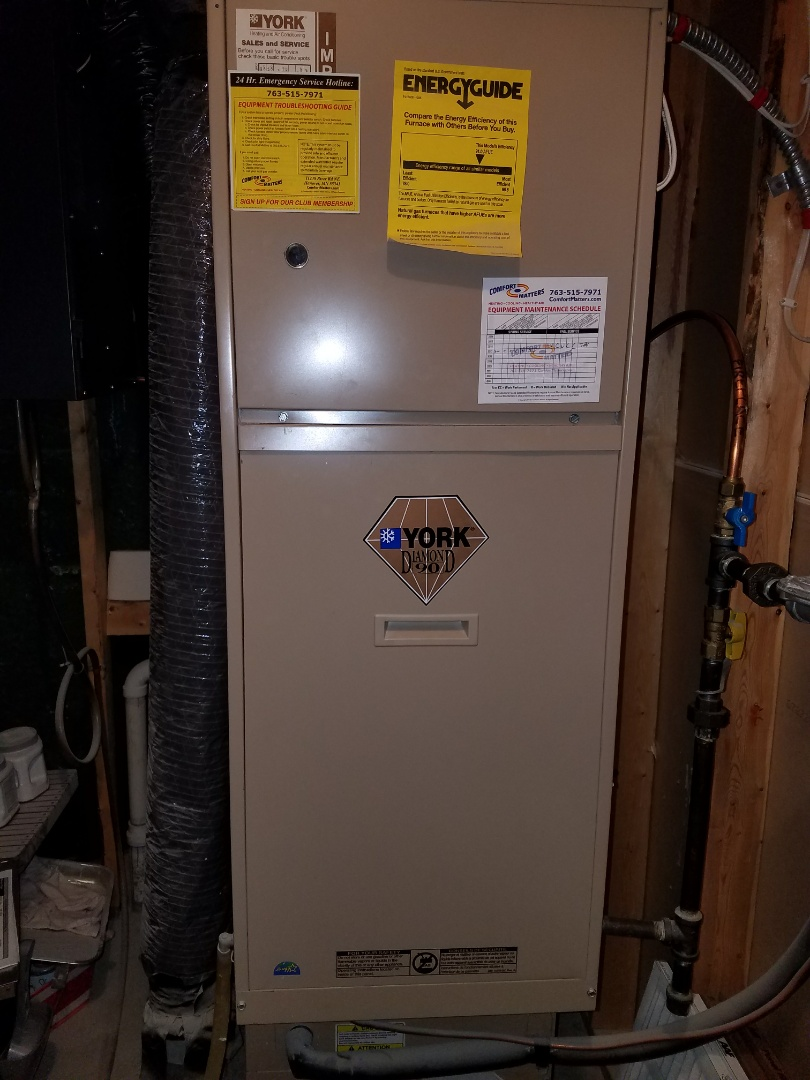 Delano, MN - York furnace tune up and clean