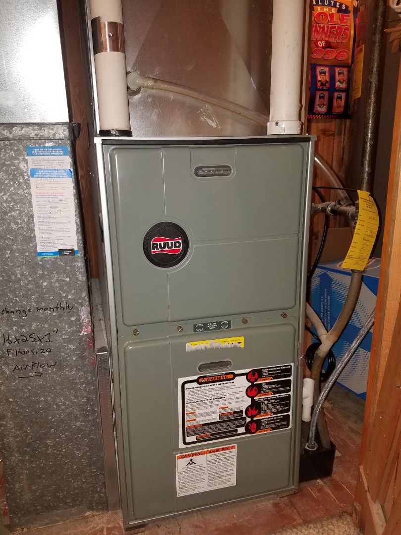 Osseo, MN - Ruud furnace not heating