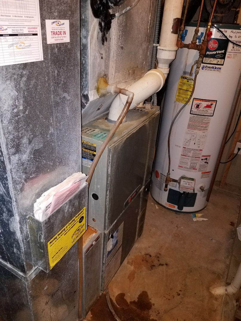 Loretto, MN - Furnace tune up on 90+% Trane unit in Greenfield.