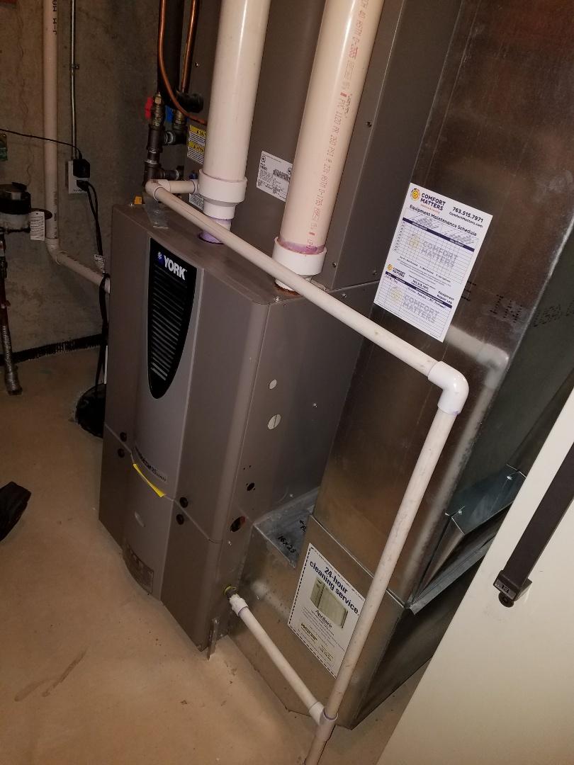 Saint Michael, MN - York furnacr no heat, replaced primary exhaust motor