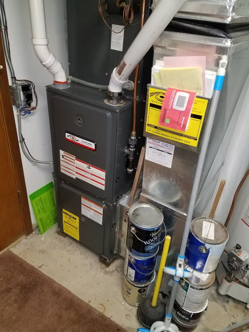 Saint Michael, MN - Comfort Matters annual furnace tune up and clean