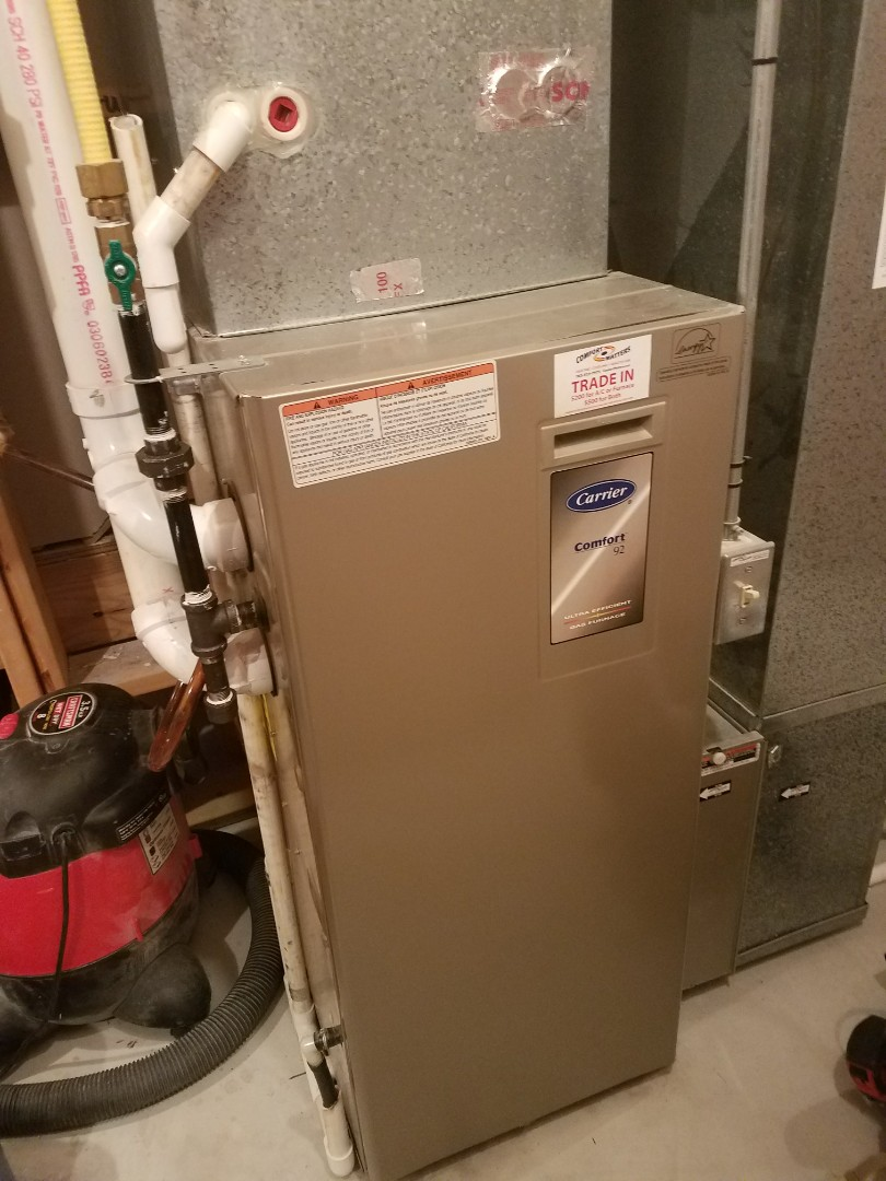Rockford, MN - Performed tune up and cleaning on Carrier furnace