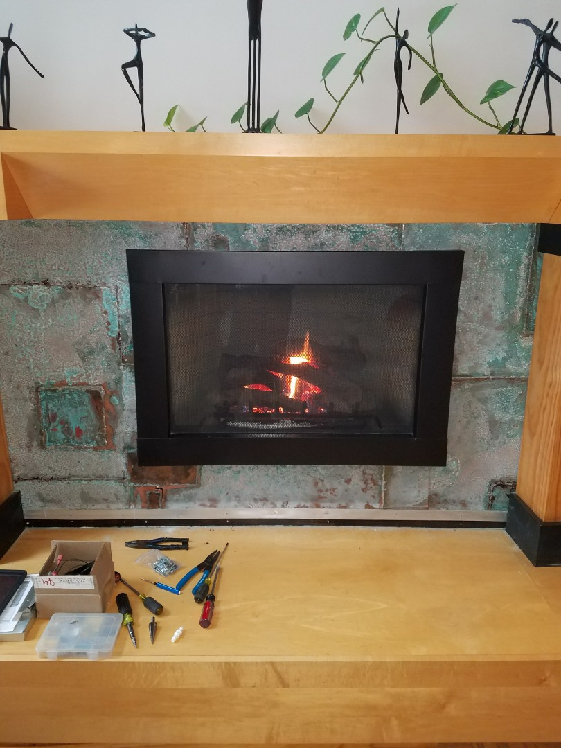 Loretto, MN - Heat n glo fireplace repair. Freshair motor bearings rattling
