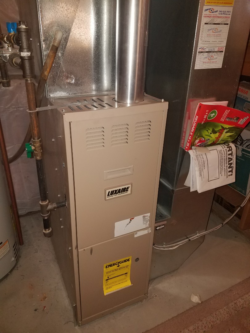 Monticello, MN - Luxaire furnace not heating
