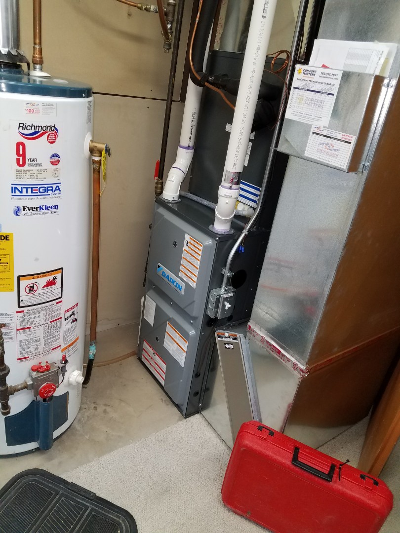 Hanover, MN - Daikin furnace tune up and clean