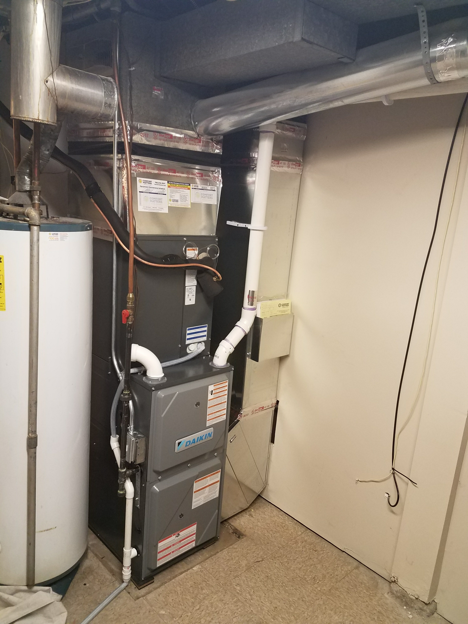 Minneapolis, MN - Installed Daikin furnace and air conditioner