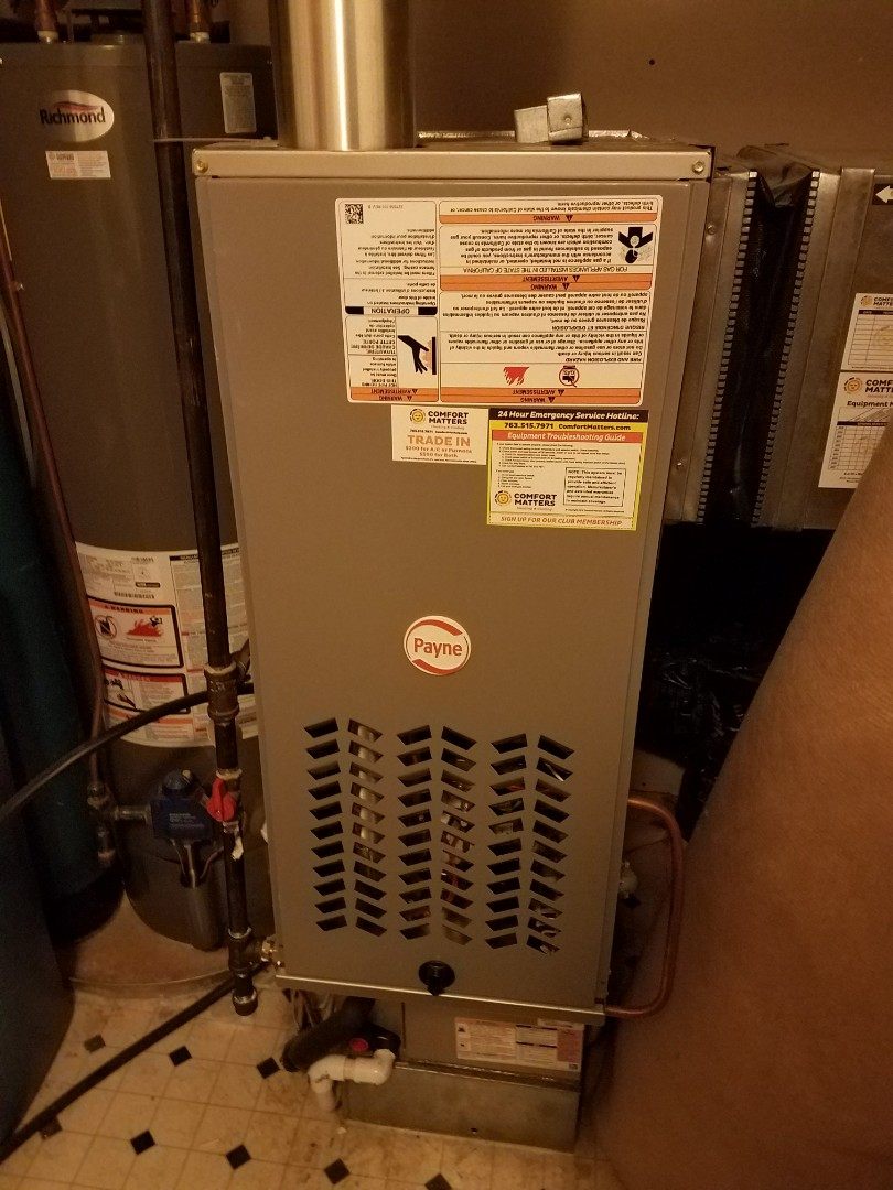 Maple Grove, MN - Faulty thermostat on Payne furnace