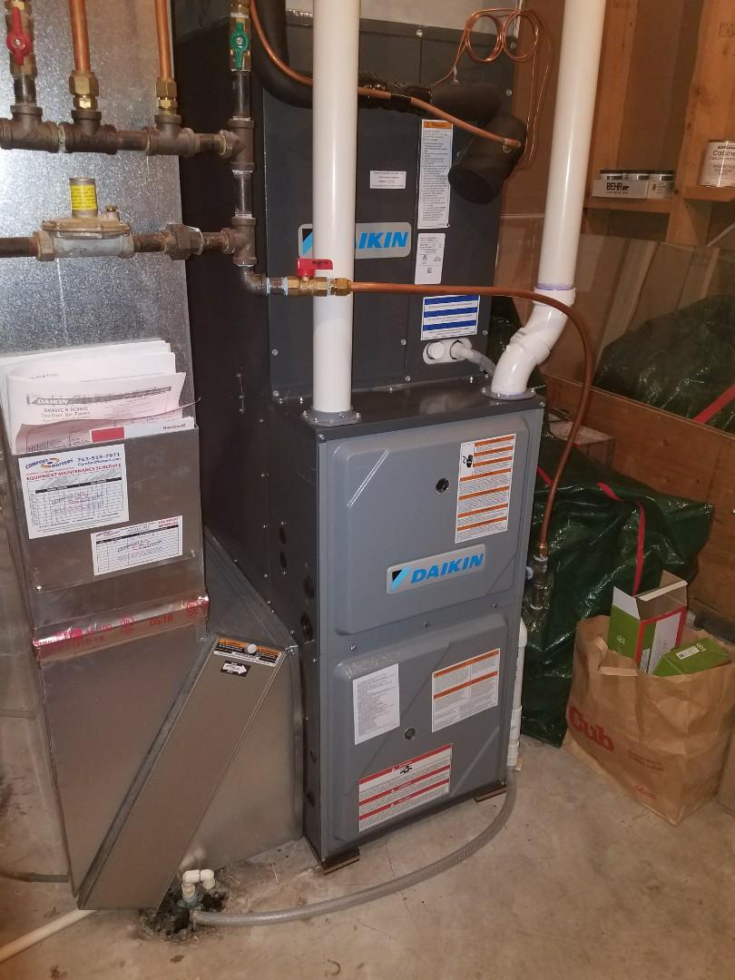 Albertville, MN - Daikin furnace tune up and clean