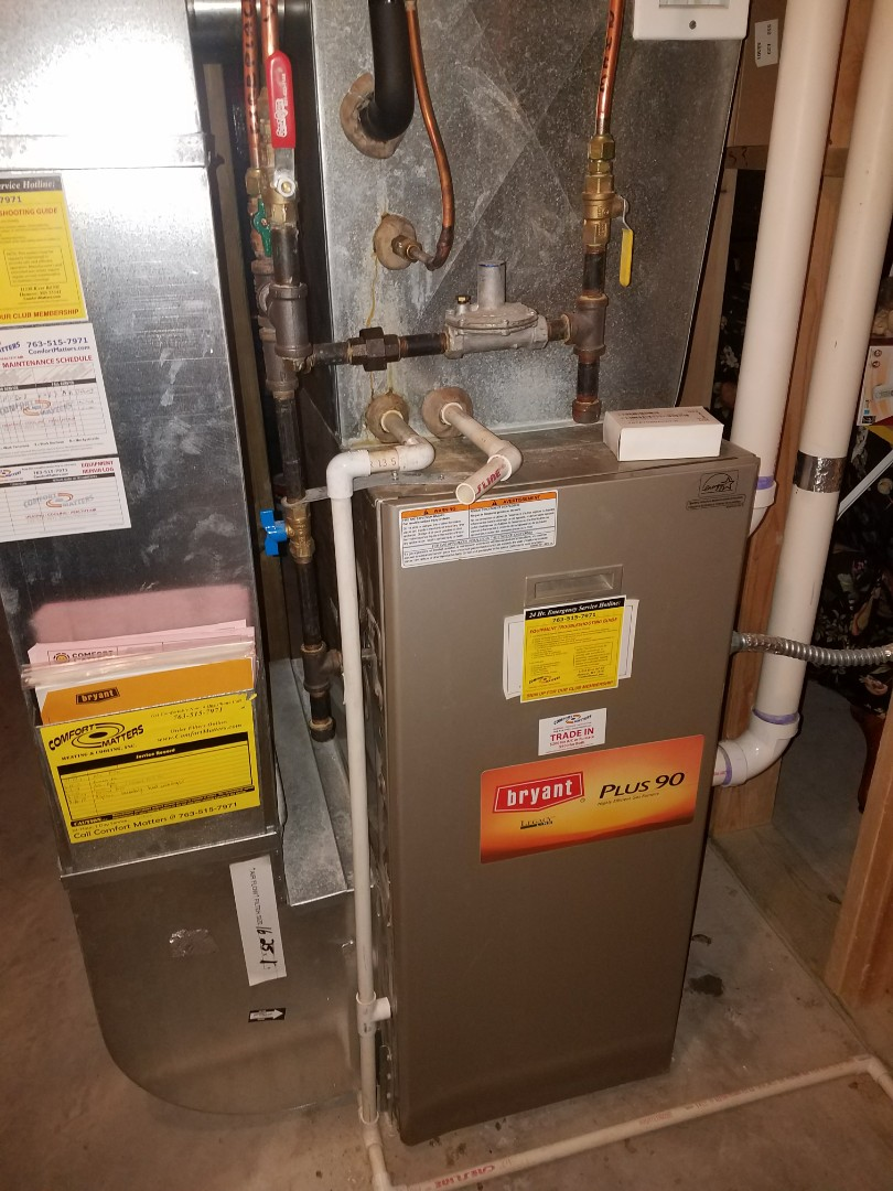 Otsego, MN - Performed tune up and cleaning on Bryant furnace