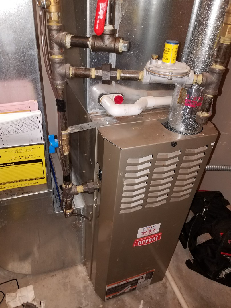 Albertville, MN - Performed tune up and cleaning on Bryant furnace