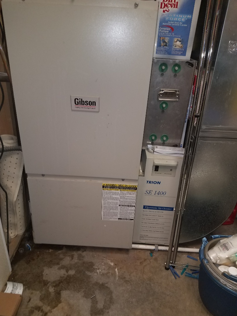 Elk River, MN - No heat call on Gibson furnace in Elk river. Found pressure switch tubing incorrectly installed and a plugged up drain line was cleared out.