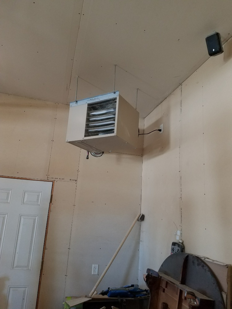 Maple Grove, MN - No heat call on ADP unit heater. Found restriction in burners, cleared restriction and tested operation