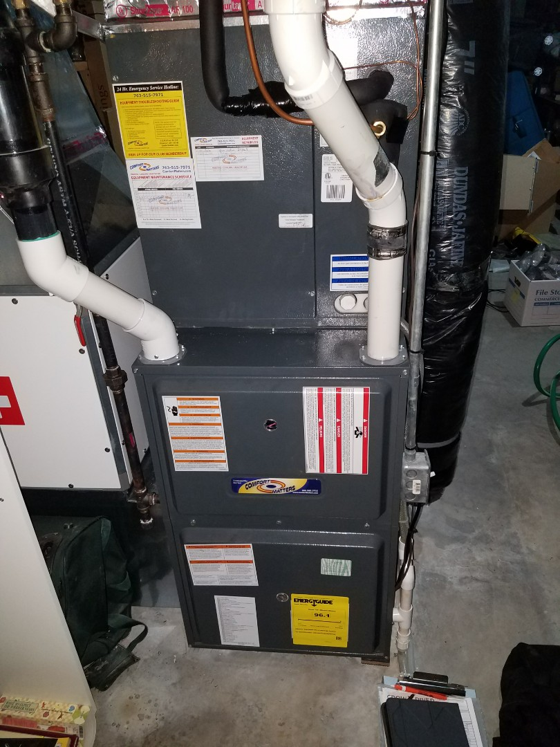 Maple Grove, MN - Furnace tune up on 96% Goodman unit in Maple Grove