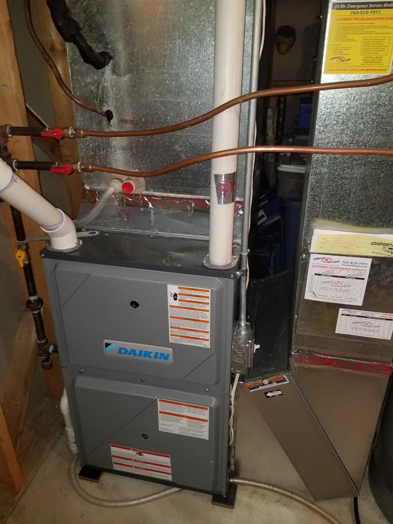 Maple Grove, MN - Daikin furnace install