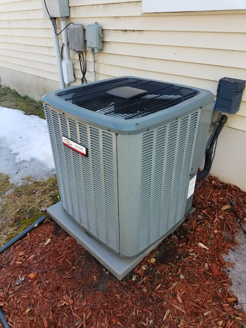 Ramsey, MN - Tune up and cleaning on Amana A/C in Plymouth