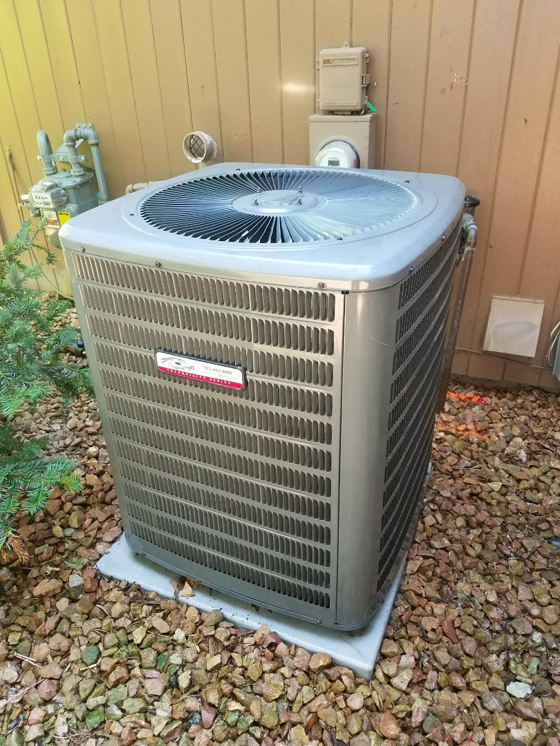 Otsego, MN - Performed tune up and cleaning on Goodman air conditioner