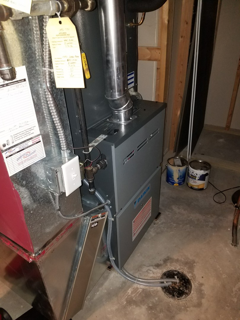 Eden Prairie, MN - Performed tune up and cleaning on Daikin furnace