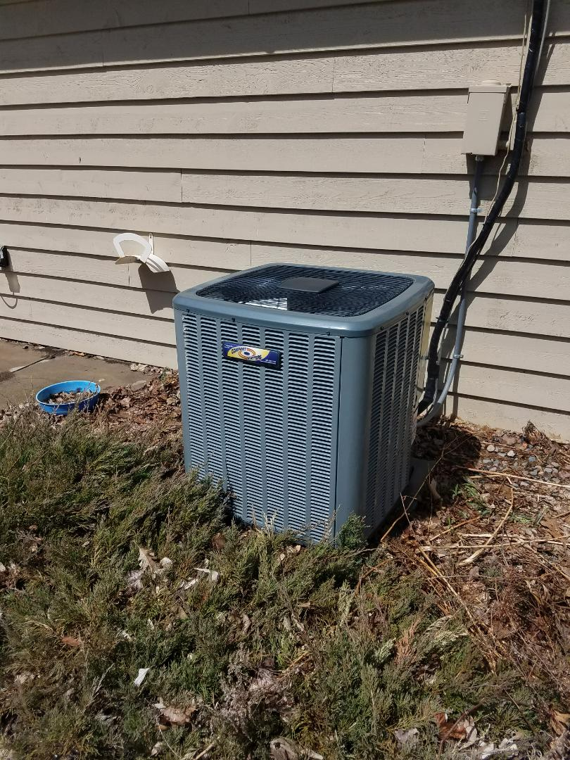 Minnetrista, MN - Performed tune up and cleaning on Goodman air conditioner