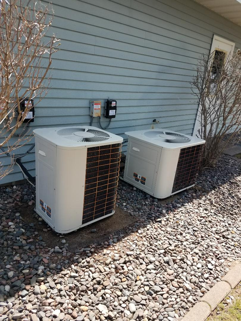 Osseo, MN - A/C tune up on 3 condensing units in St. Michael.