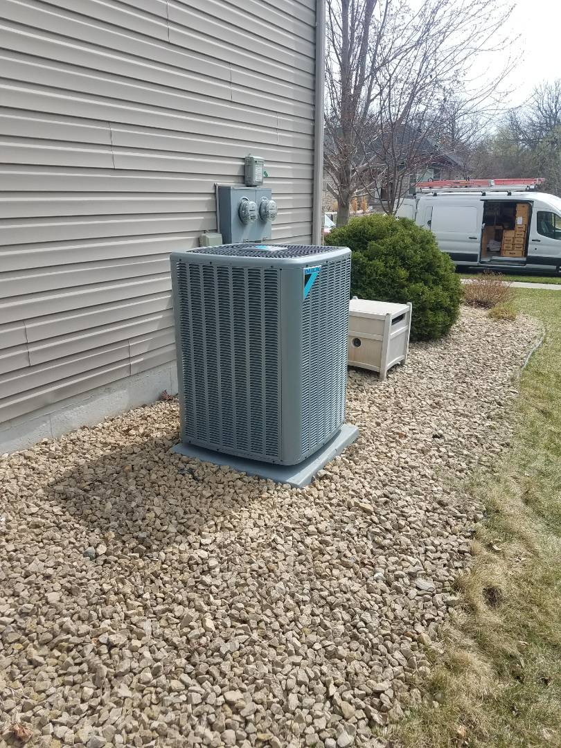 Osseo, MN - New furnace and AC installed