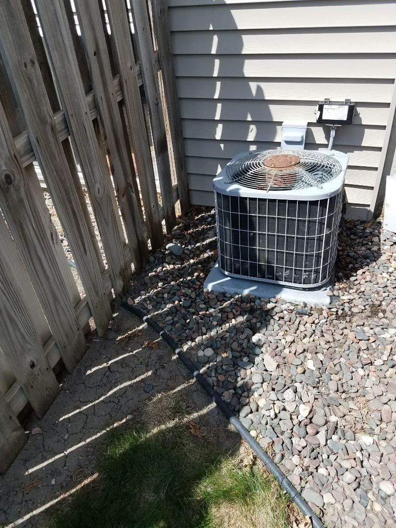 Rockford, MN - A/C tune up and clean on Bryant condensing unit in St. Michael