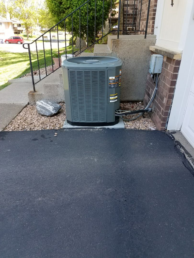 Osseo, MN - A/C tune up and clean on Trane condensing unit. Also pulled and cleaned blower wheel.