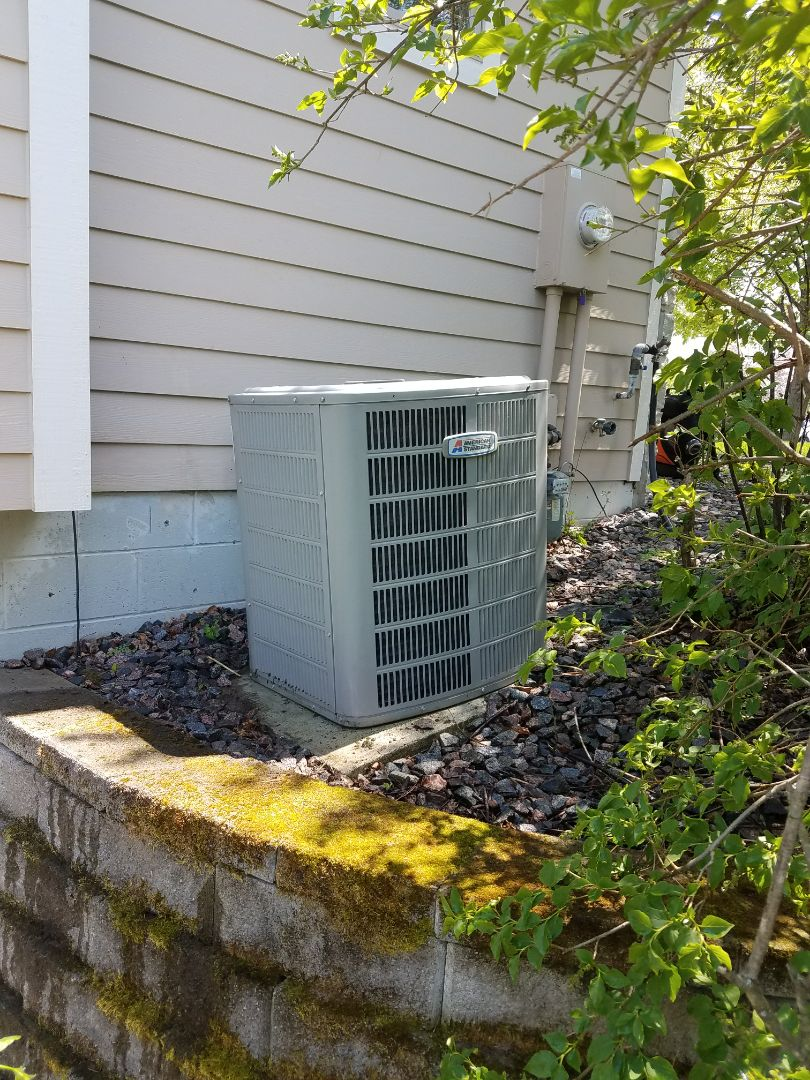 Excelsior, MN - Air conditioning maintenance. Performed a cleaning and tune up on an American Standard AC. Also diagnosed a Bradford White water heater leaking from both the drain valve and theT&P valve.
