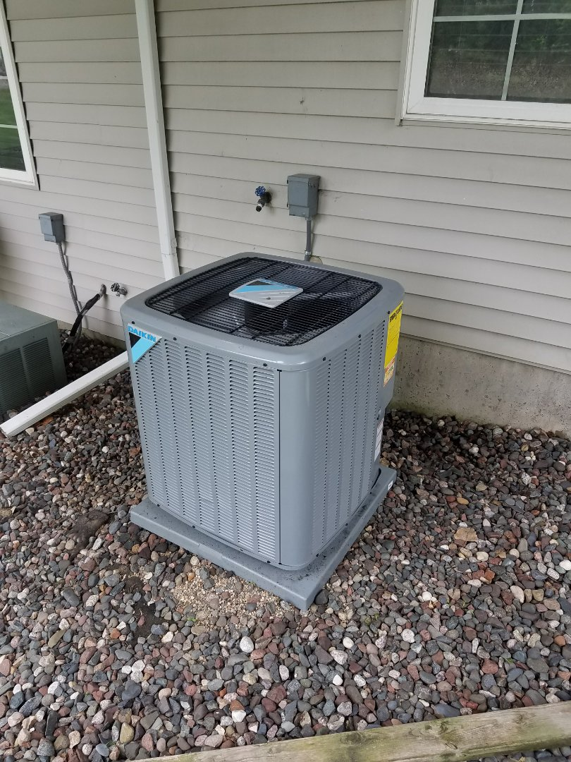 Plymouth, MN - AC maintenance. Performed air conditioner start up and operation check on a Daikin A.C.