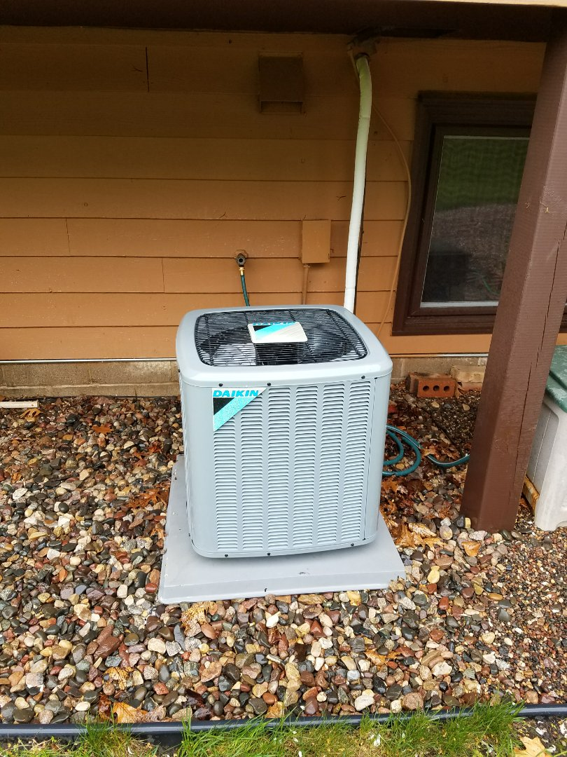 Corcoran, MN - Daikin ac tune up and clean