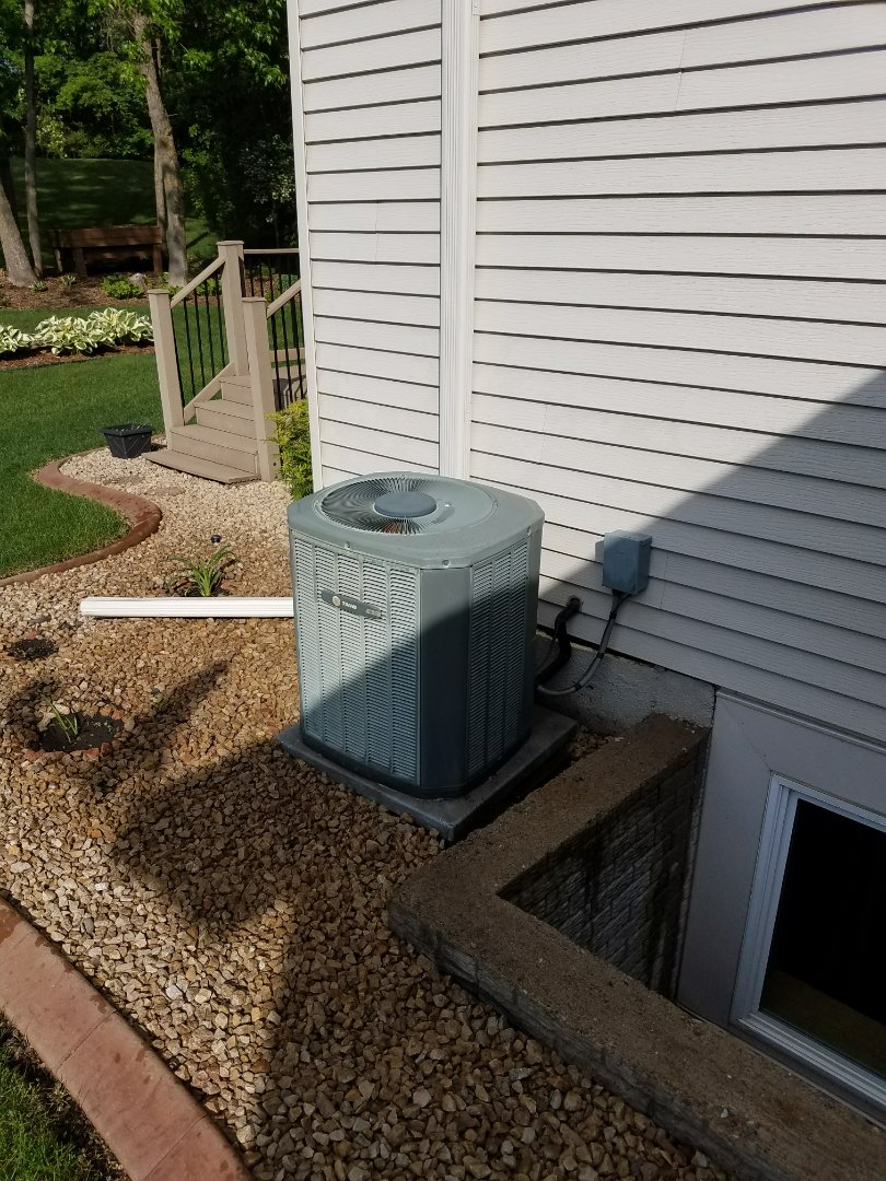 Saint Michael, MN - Air conditioner service. Performed a cleaning and tune up on a Trane furnace. Also installed a motor booster and AC ReNew on the Trane air conditioner and performed a blower wheel cleaning on the Trane furnace.
