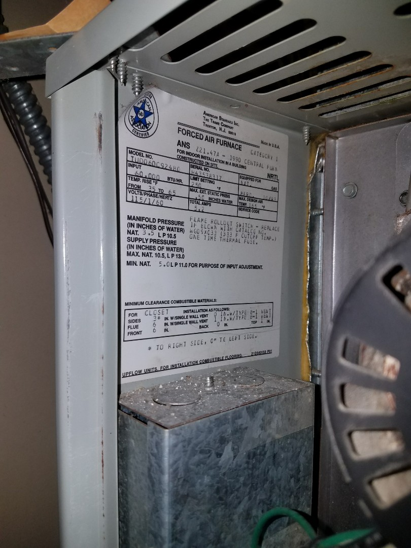 Minneapolis, MN - Air conditioner service.  Installed and control board and a hot surface igniter on a Trane furnace.