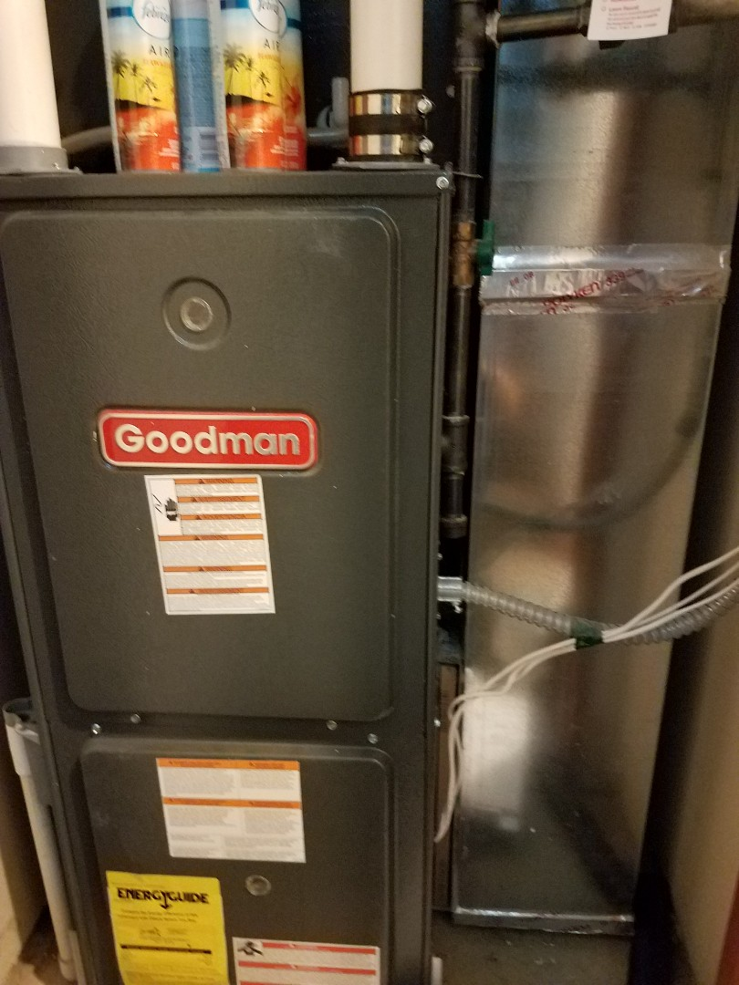 Osseo, MN - Noise issue in Goodman furnace. Found air gap where filter was sitting. Adjusted to prevent squealing nuisance noise in Maple Grove