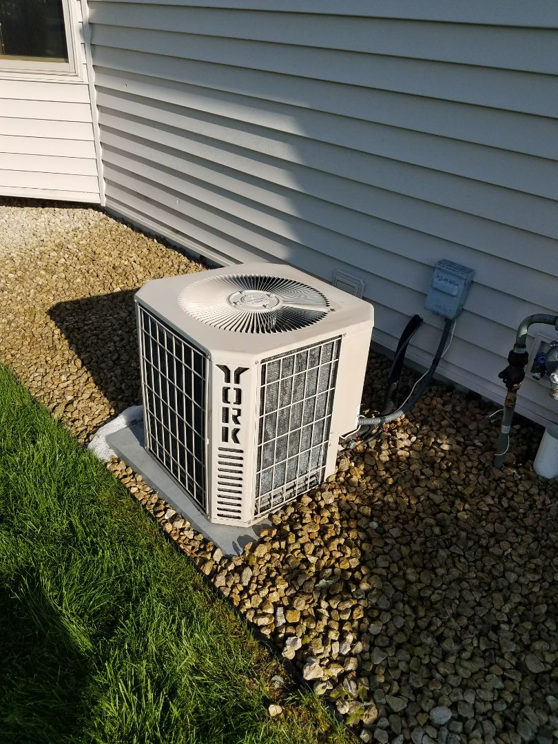 Plymouth, MN - AC maintenance. Performed a cleaning and tune up on a York air conditioner.