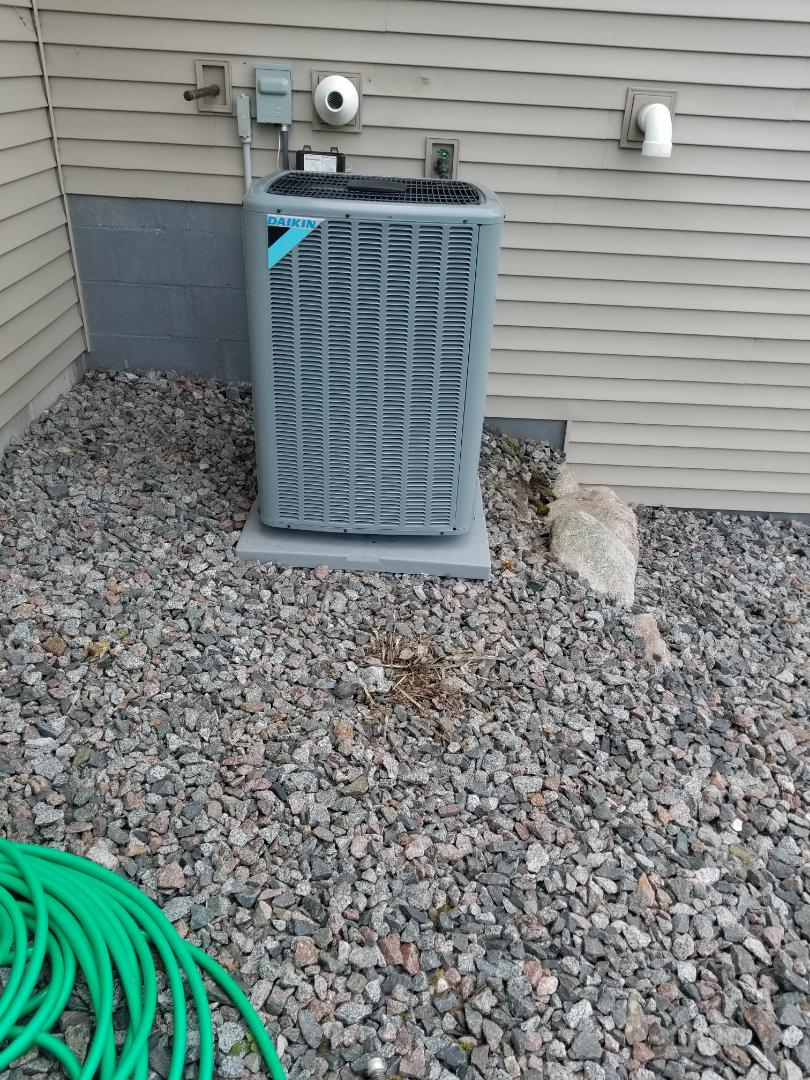 Rogers, MN - New air conditioner installed