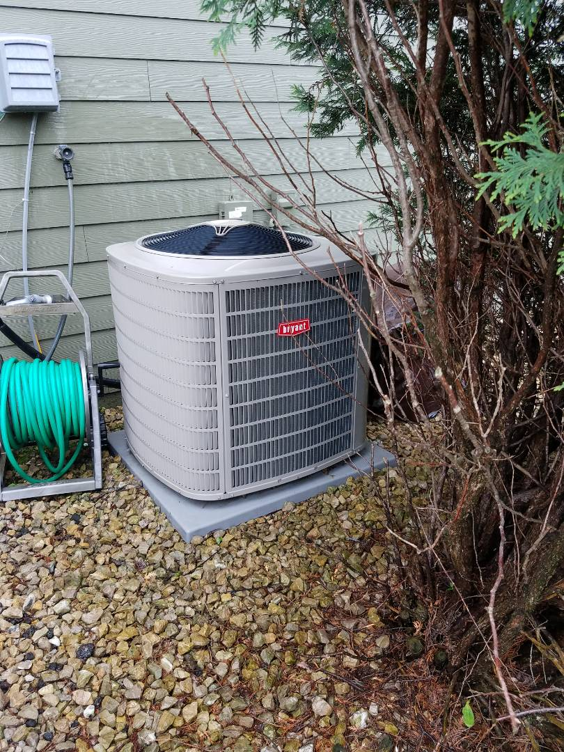 Orono, MN - A/C tune up and clean on Bryant condensing unit in orono