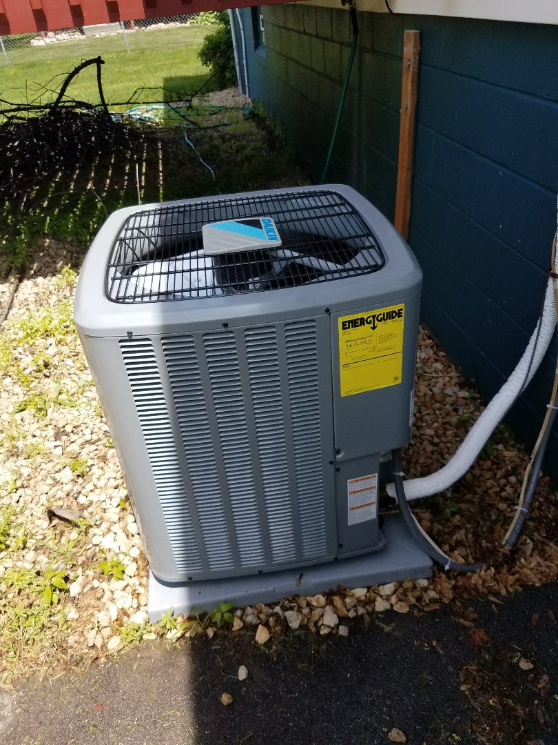 Maple Grove, MN - A/C tune up and start up on Daikin condensing unit in Maple Grove