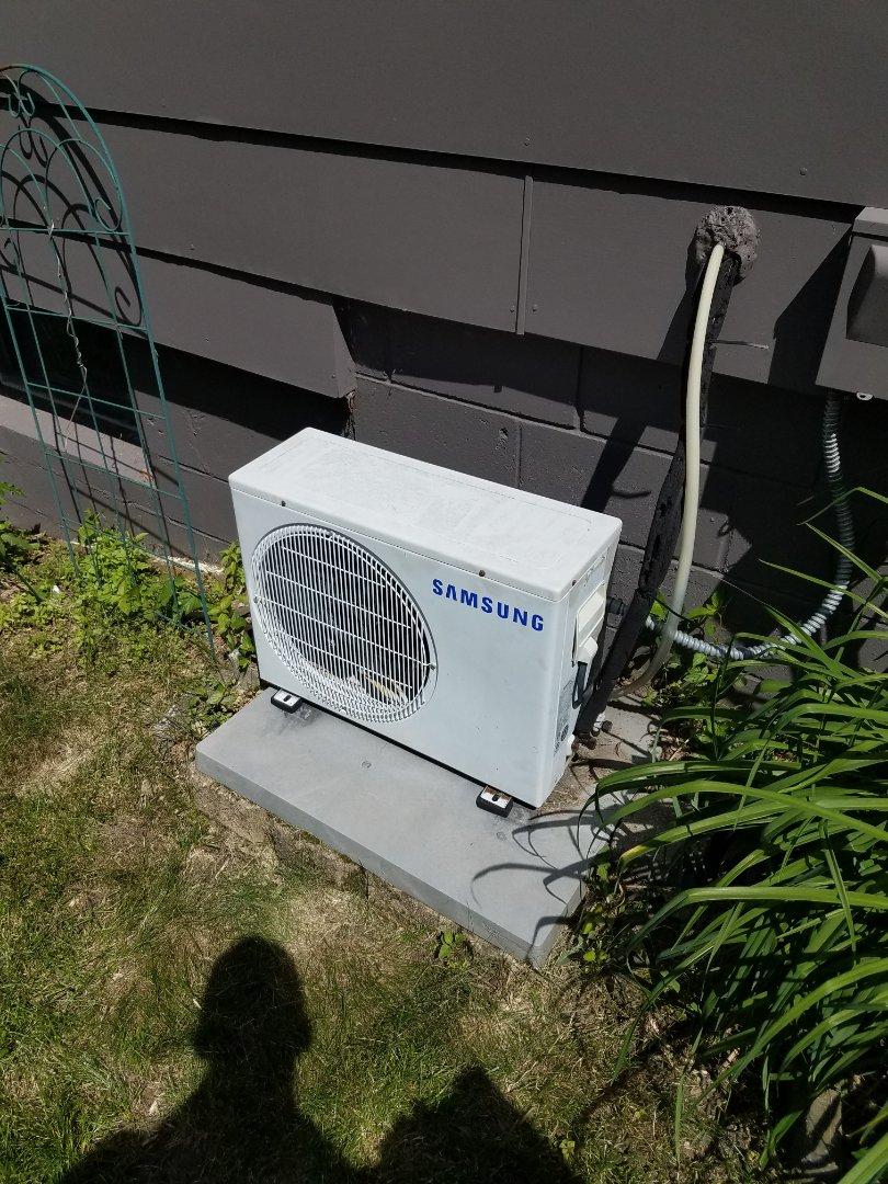 Maple Grove, MN - AC service. Diagnosed a failed control boa tdd d on a Samsumg mini split air conditioner.