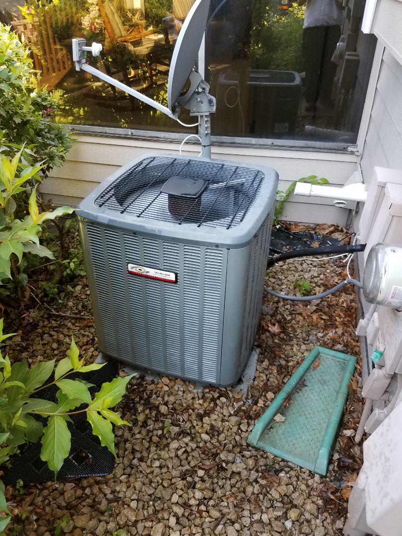 Maple Grove, MN - A/C tune up and clean on amana condensing unit in maple grove