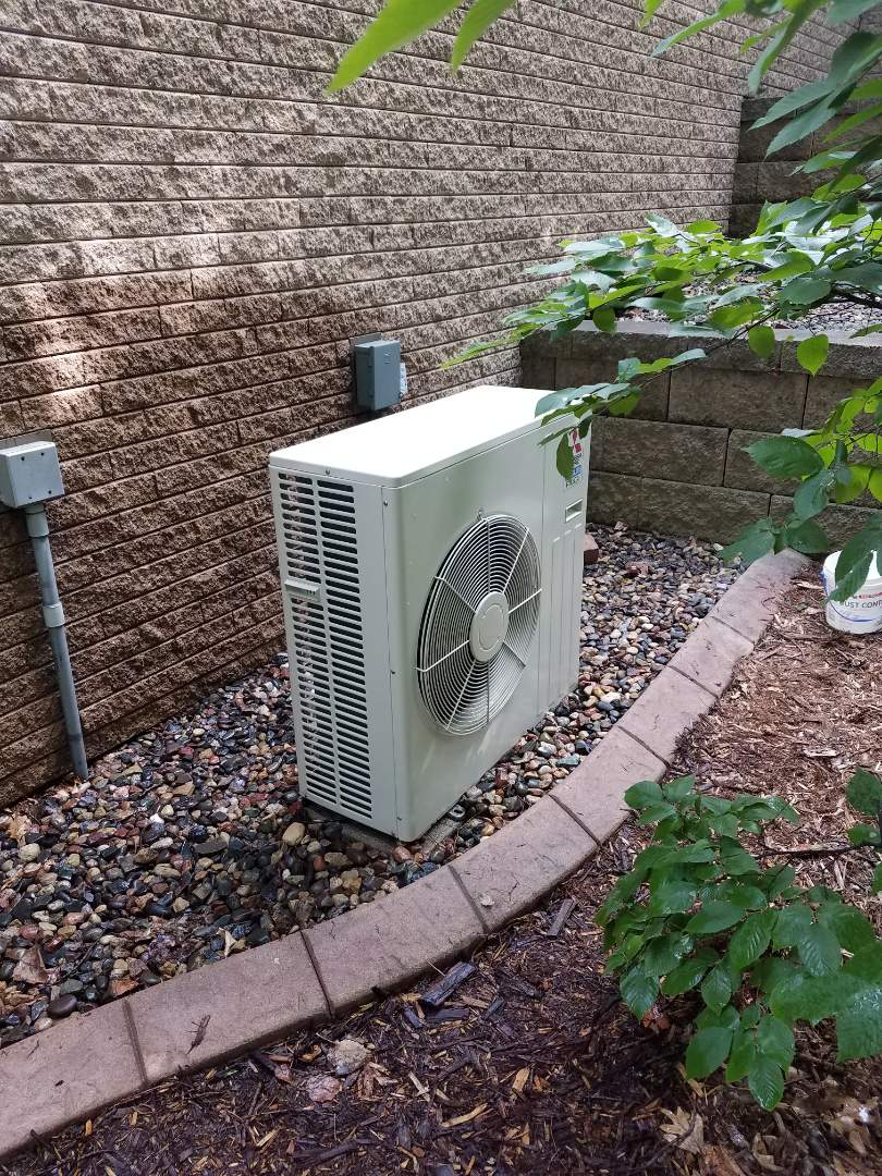 Plymouth, MN - Air conditioner maintenance. Performed a cleaning and tune up on a Mitsubishi mini split  and performed a blower wheel cleaning.