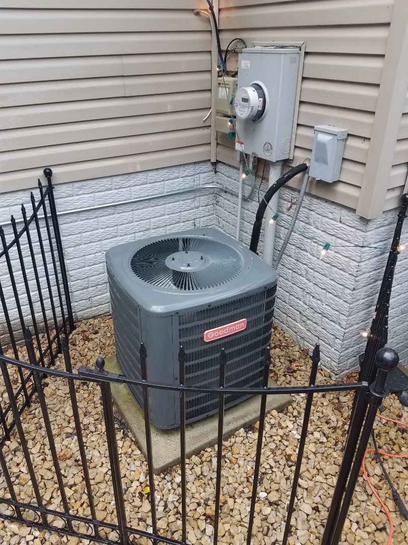 Big Lake, MN - Air conditioning service. Performed a cleaning and tune up on a Goodman AC and furnace.