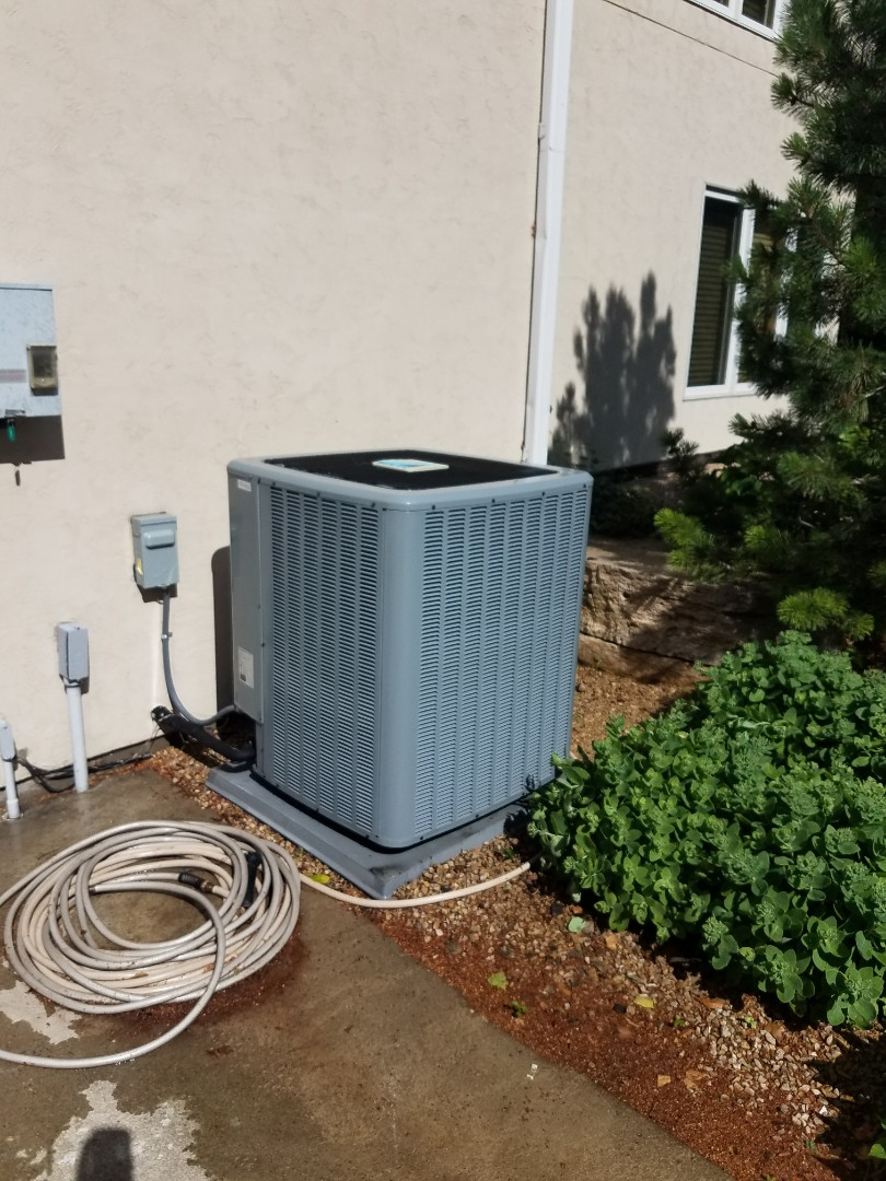 "Rockford, MN - Air conditioner maintenance. Performed a cleaning and tune up on a Daikin AC and installed a 4"" Honeywell media filter. Also performed a cleaning and tune up on a RenewAire ERV air exchanger."