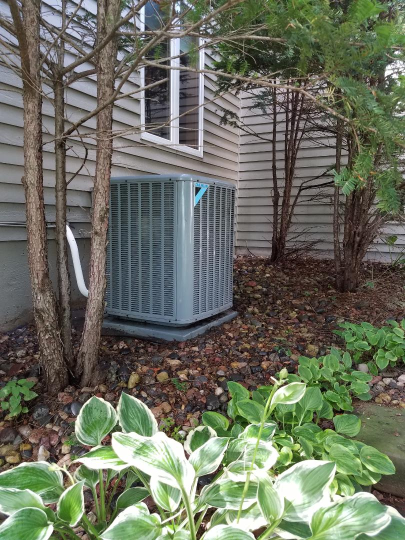 Plymouth, MN - A/c tune up and clean on daikin condensing unit in plymouth