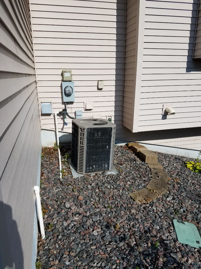 Maple Grove, MN - A/c tune up and clean on York condensing unit in Maple Grove