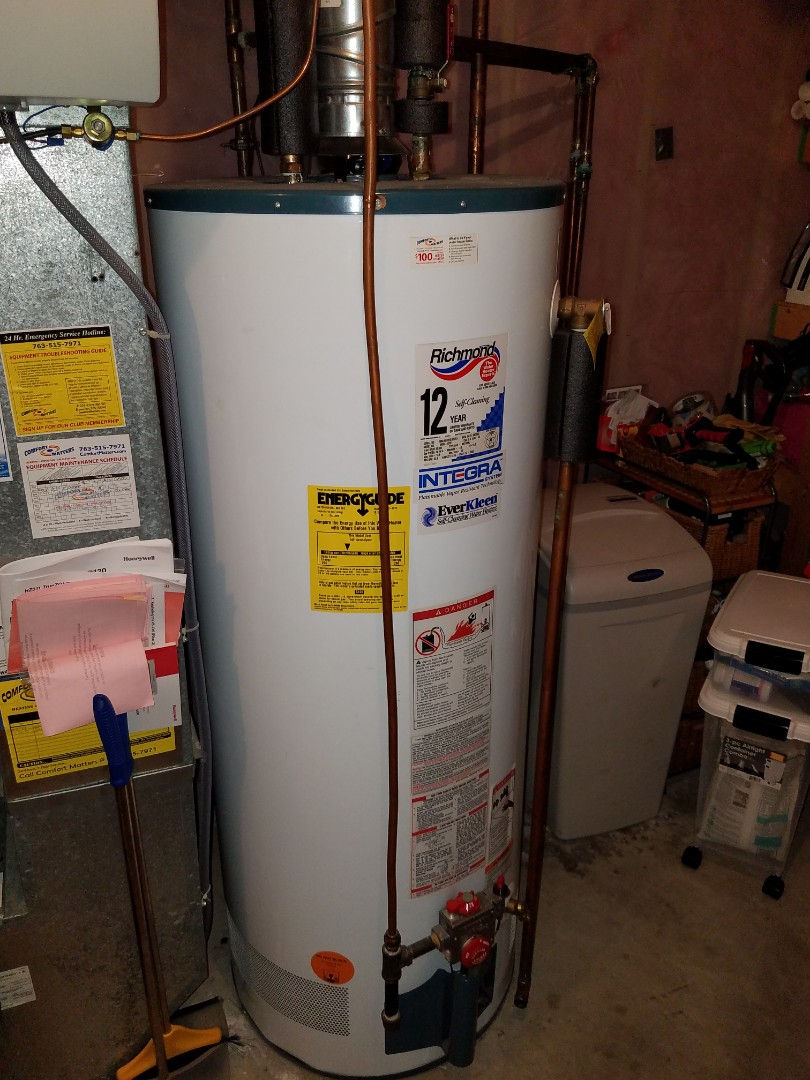 Delano, MN - Drained and flushed water heater in delano.