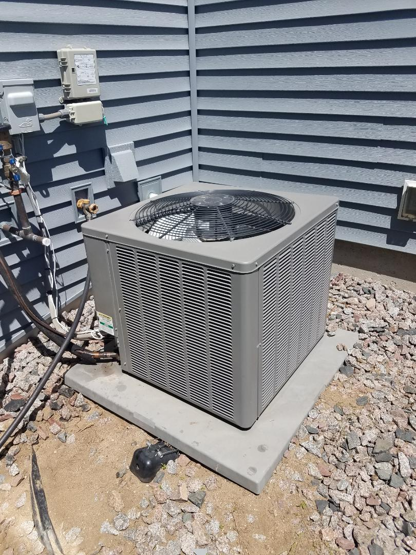 Otsego, MN - Air conditioning service. Installed a TXV on a Ruud air conditioner.