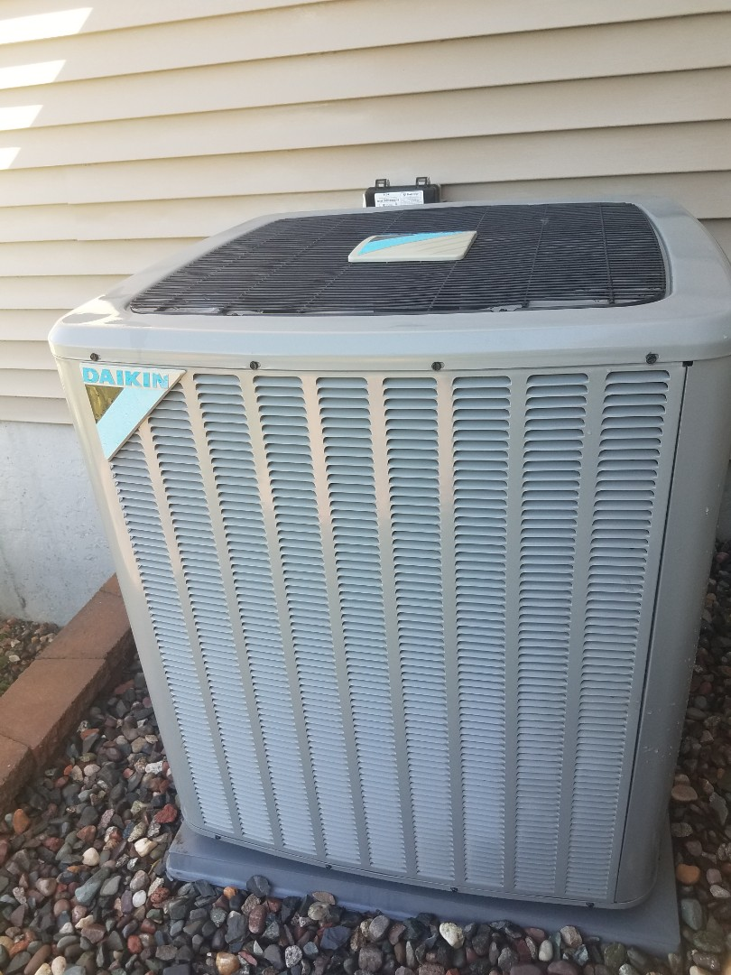 Hanover, MN - Air conditioner cleaning and tune up on a Daikin