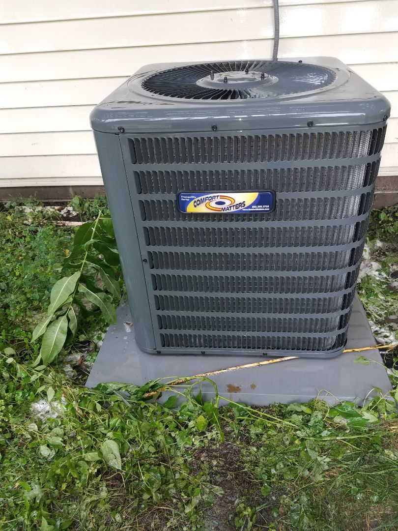 Ramsey, MN - Air conditioning tune up and cleaning on Goodman air conditioner