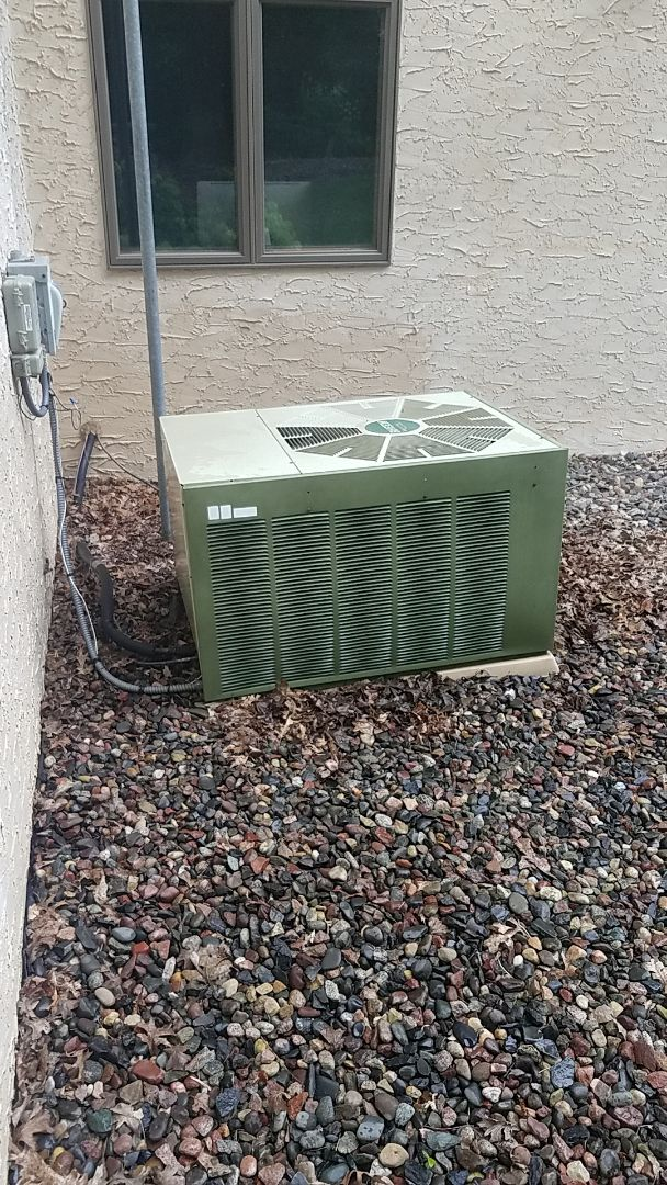 Hanover, MN - Air conditioner cleaning and tune up on a Rheem